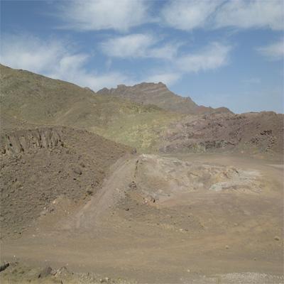 رخنمون مس مالاکیتی در اردستان